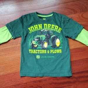 John Deere Tractors & Plows Long Sleeve T-Shirt SM